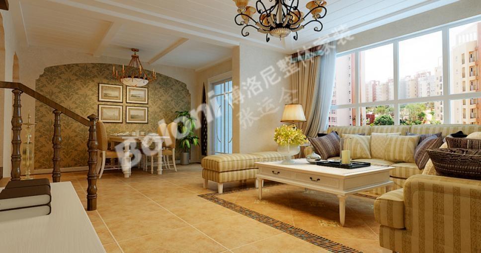 三居室欧式风格_燕柳园小区128平新欧式风格设计!