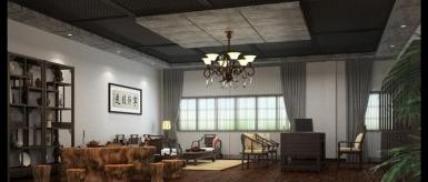迦勒居装饰--五缘湾--中式办公室装饰