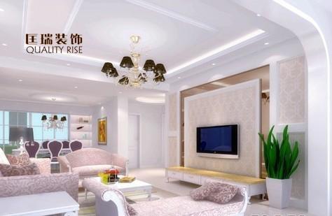 三居室现代风格_客厅案例 合辑 匡瑞装饰装修效果图-x