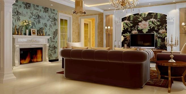 三居室现代风格_欧雅装饰现代主义风格图片