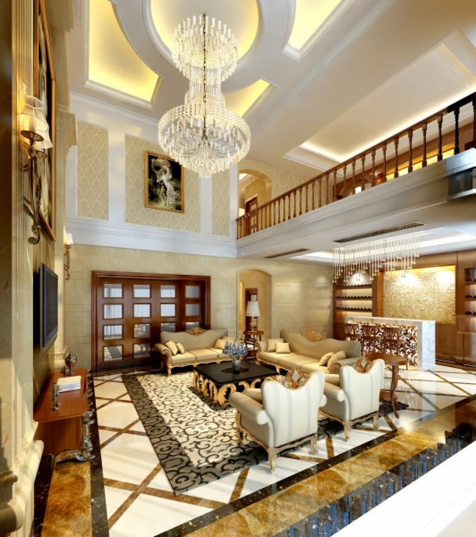 别墅欧式风格 设计理念:设计采用简约明朗的线条图片