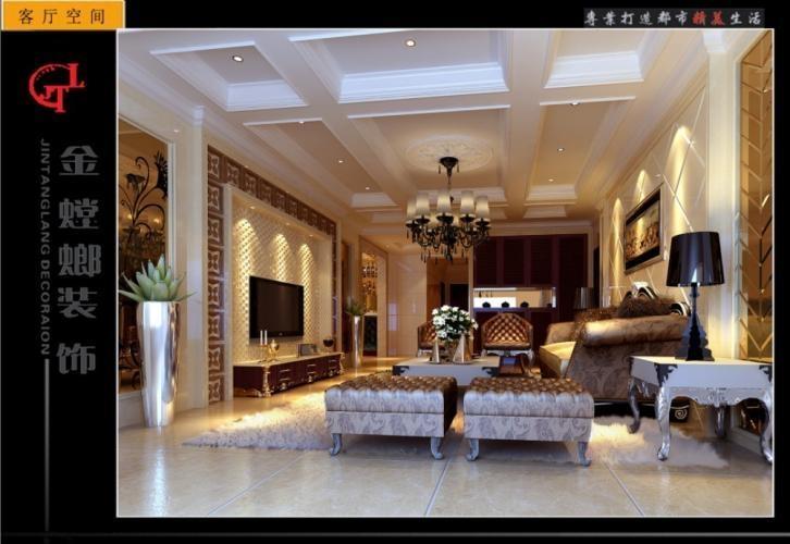 银基王朝三居室新中式装修效果图  设计理念: 户型:三居室 风格:欧式图片