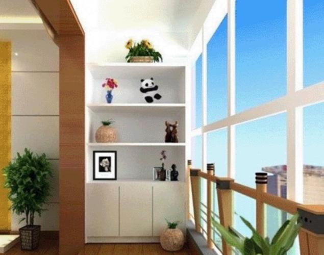 三居室现代风格_创意阳台设计装修效果图-x团装修网十米乘八两房一厅平面设计图图片