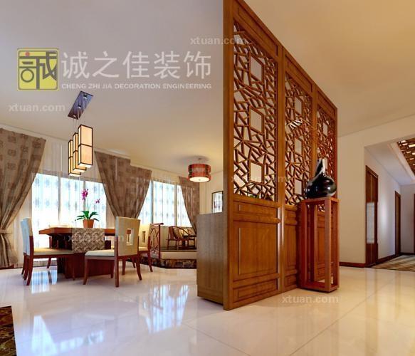 三居室中式风格_水晶森林 中式 诚之佳装饰装修效果图