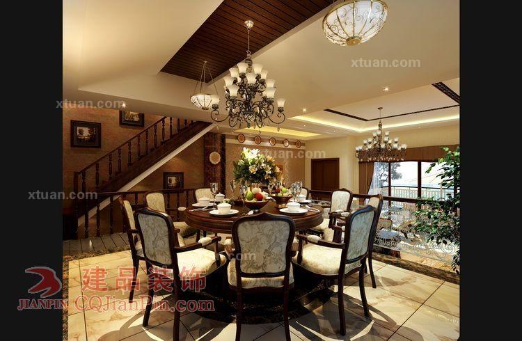设计理念:以华丽的装饰、浓烈的色彩、精美的造型达到雍容华贵的装饰效果。客厅顶部用大型灯池,并用华丽的枝形吊灯营造气氛。门窗上半部多做成圆弧形,并用带有花纹的石膏线勾边。室内有真正的壁炉或假的壁炉造型。墙面用高档壁纸,或优质乳胶漆,以烘托豪华效果。地面材料以石材或地板为主。