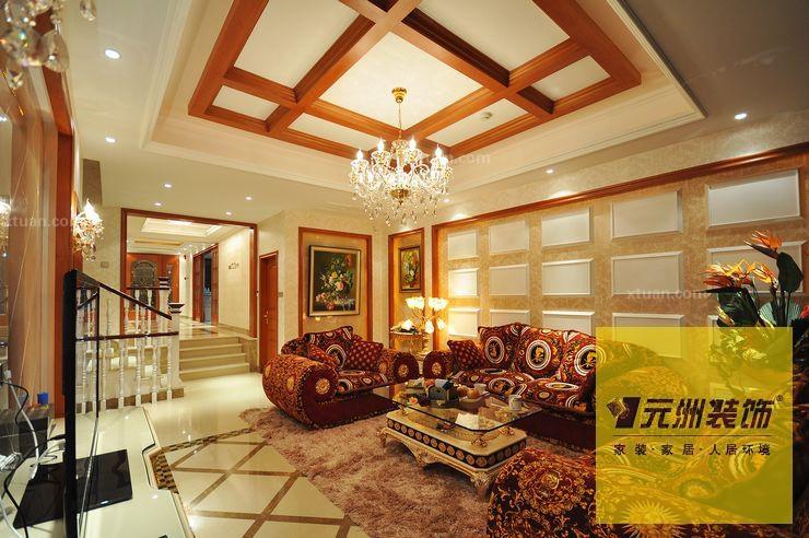 别墅欧式风格_阿卡迪亚庄园美式风格别墅实景图图片