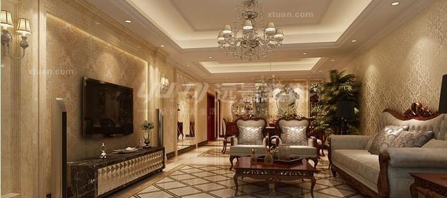 别墅欧式风格_保利高尔夫别墅欧式风格案例装修效果图图片
