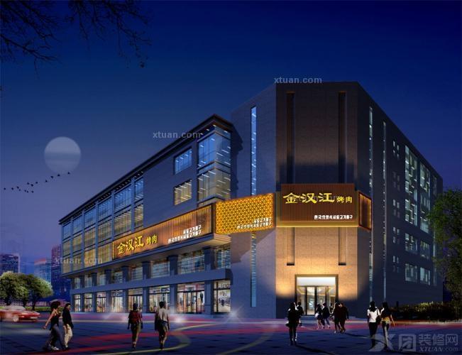 复式楼现代风格_餐厅设计|餐饮设计|商业店面设计|金汉江烤肉