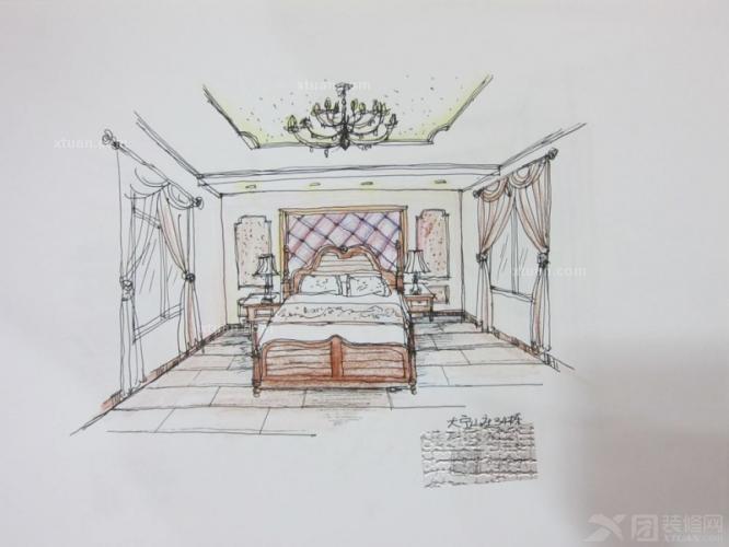 北京大宁山庄别墅(古典欧式风格)独栋别墅装修效果图