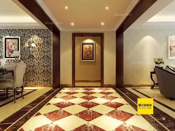 首创国际130平三居室中式风格装修效果图 阳光水岸花园-现代简约-三图片
