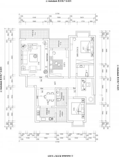 设计理念:涵玉翠岭三居室户型新欧式风格设计,济南博洛尼装饰优秀