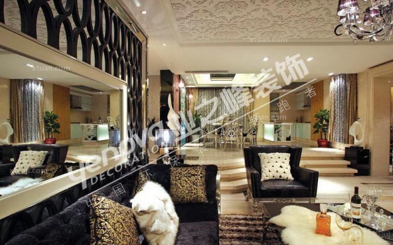 潘熙装修效果图 380平欧式别墅设计风格装修效果图 南宁半岛半山别墅
