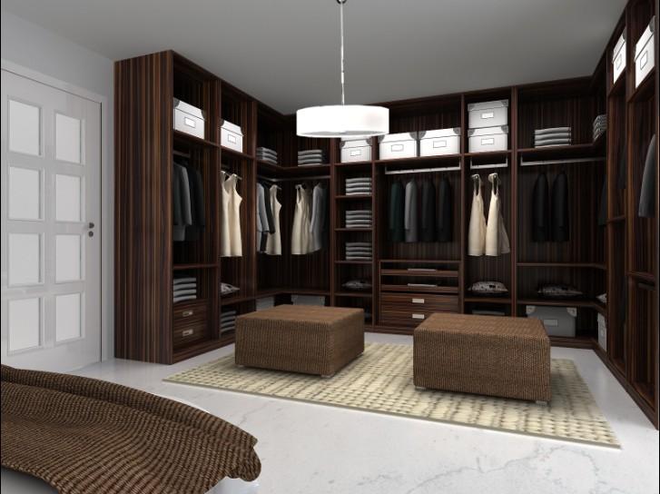 博洛尼定制系统家具之板式衣帽间装修效果图图片