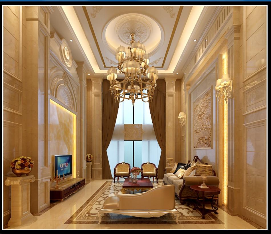 标签:别墅欧式风格 设计理念:作为复式的室内空间,延续了室外欧式的图片