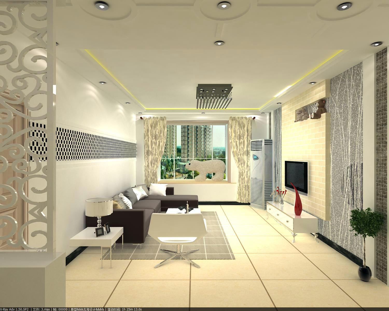 鼎盛创典装饰装修效果图  户型:三居室 风格:现代风格 装修类型:家装