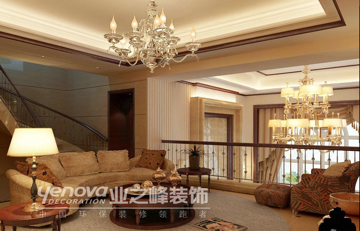 别墅装修效果图 上海海珀晶华挑空别墅新欧式风格设计装修效果图 上海