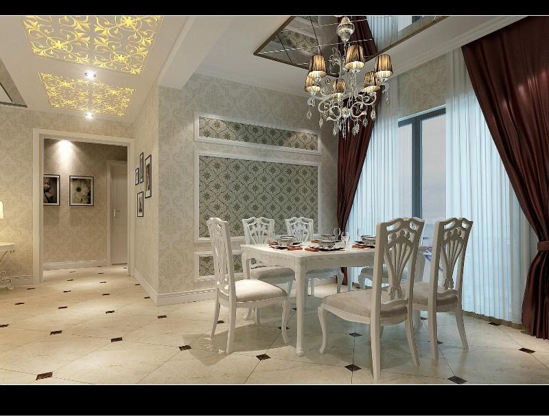 三居室欧式风格_百瑞景装修效果图-x团装修网
