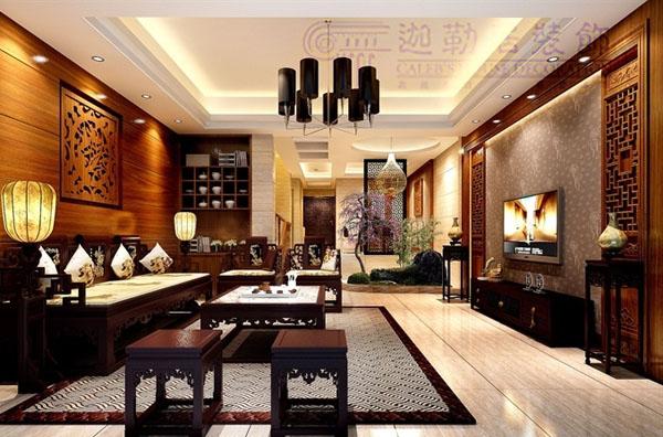 欧式风格——鼎盛创典装饰装修效果图  户型:三居室 风格:中式风格 装图片