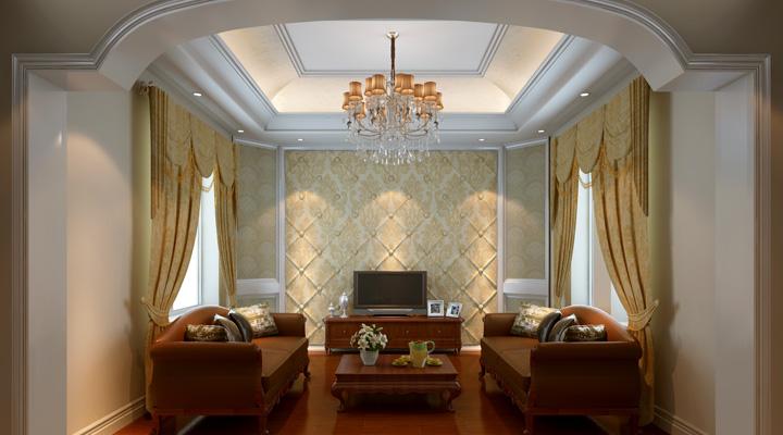 简约现代时尚设计孔雀城别墅装修效果图