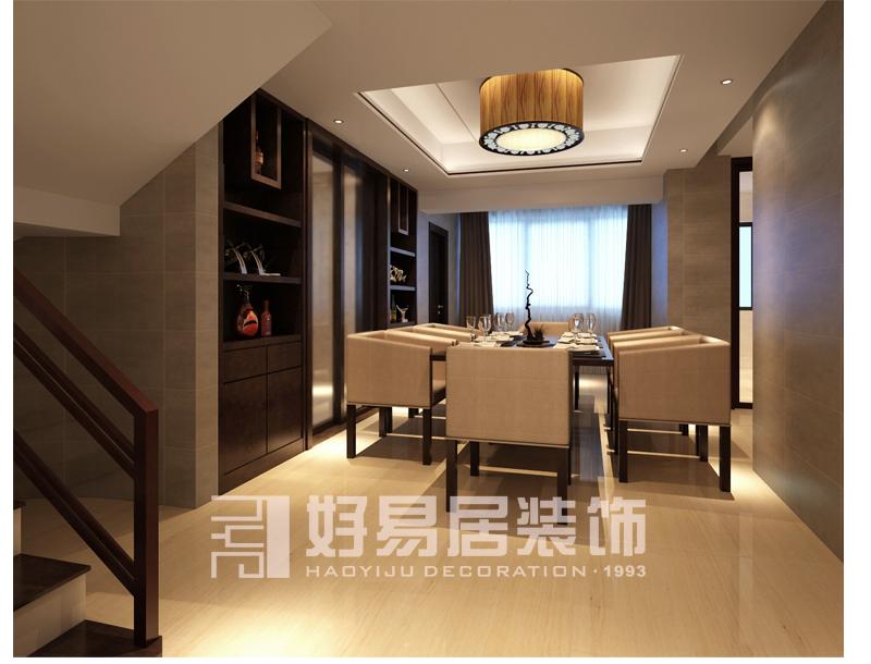 木地板墙布瓷砖 本案户型为挑高楼中楼结构,但主人想划分为两套房形式