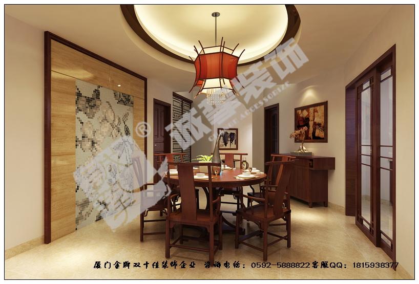 全套中式家具,现代灯饰,木雕花格搭配超炫镜面,使得空间每个角落都