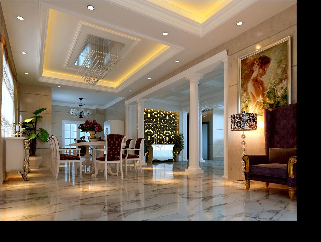 标签:别墅欧式风格 设计理念:欧式风格强调线形流动图片