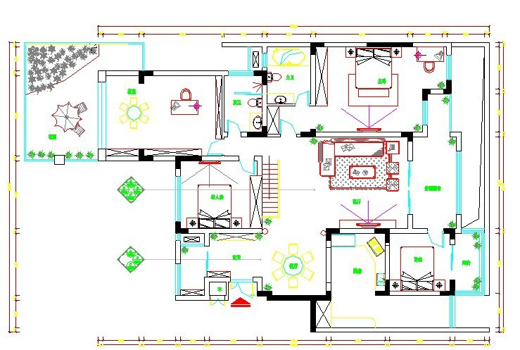 復式樓歐式風格_一樓平面圖圖片