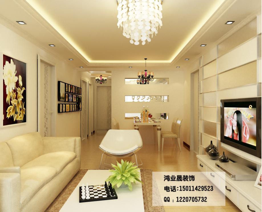 中海寰宇 132平三居室简欧风格设计风尚装修效果图 京华城中城-欧美图片