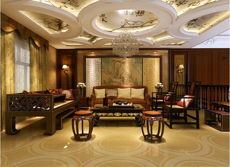 上海月湖山庄独栋别墅中式风格设计
