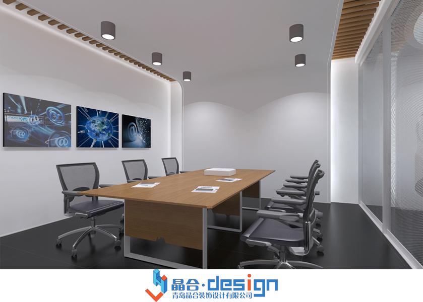 青岛云创商业软件办公室整体设计装修效果图