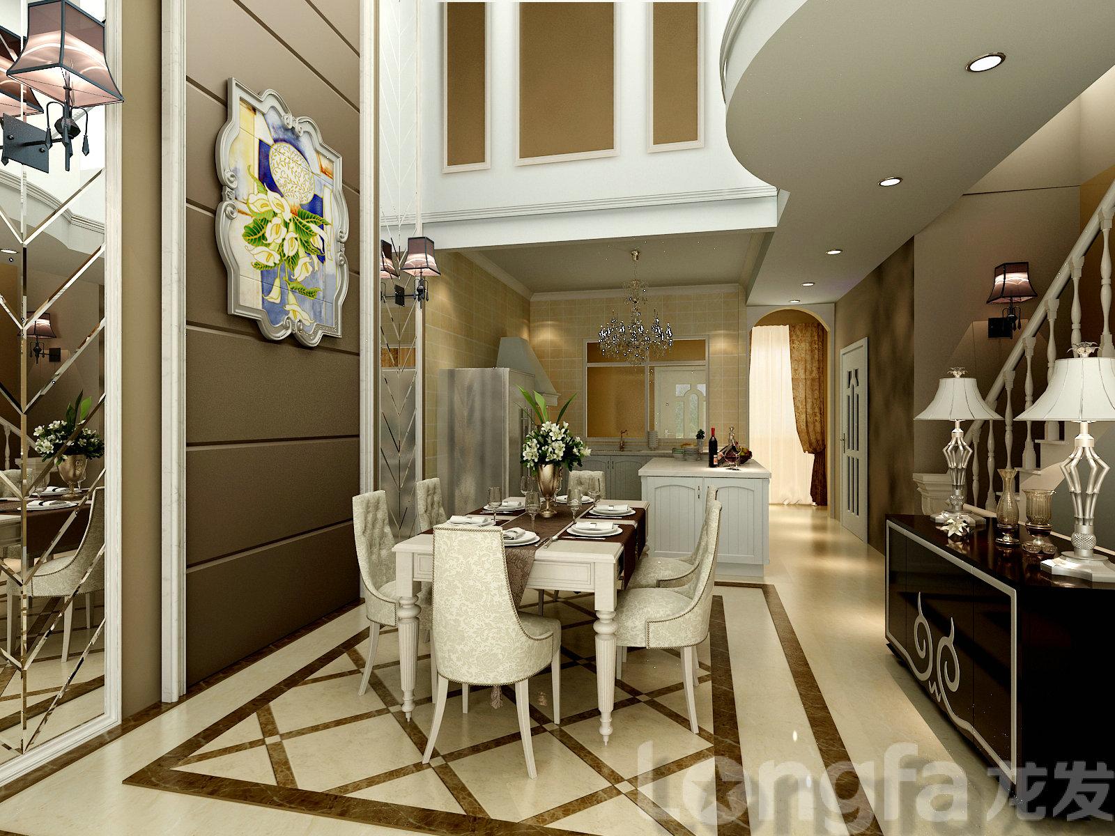 天津龙港诚别墅欧式风格设计装修效果图图片