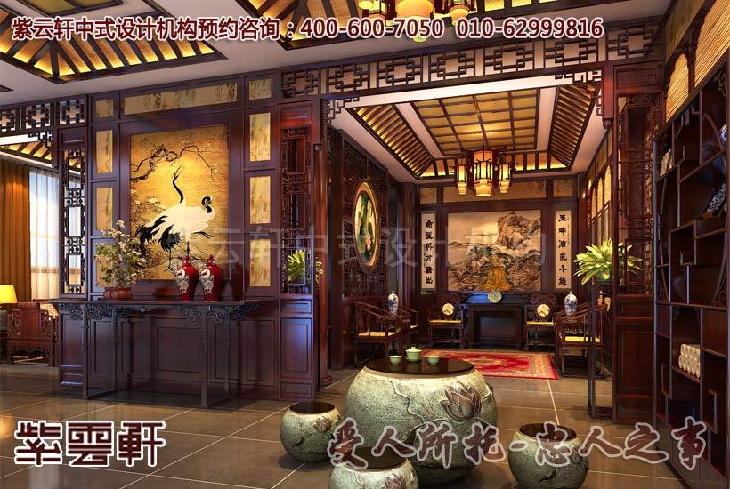 中式别墅装修之茶室 装修效果图 X团装修网 -别墅中式风格 中式别墅之高清图片