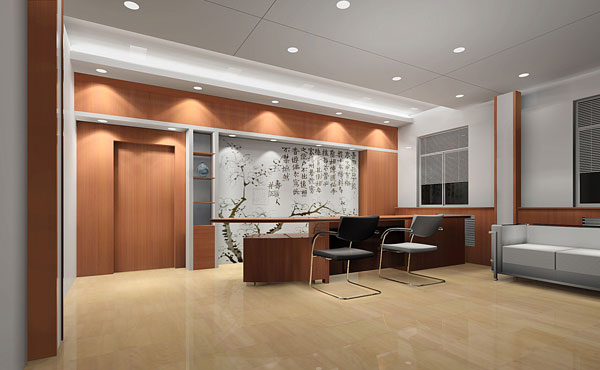 大型办公室装修设计-东莞集景装饰