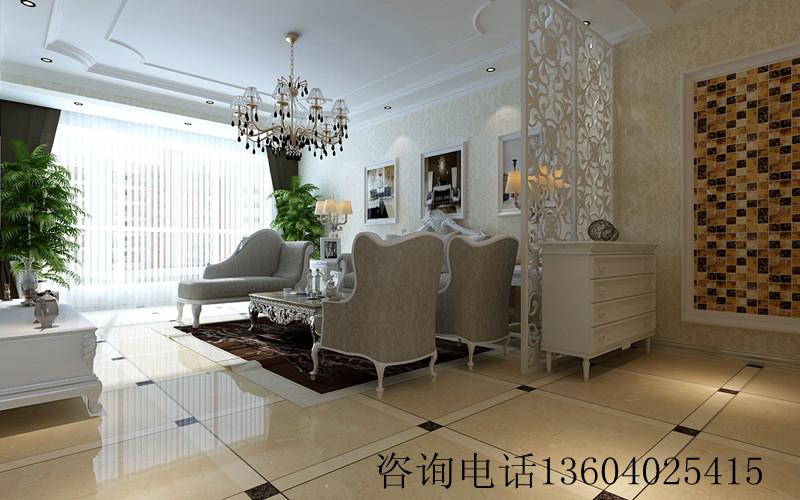三居室欧式风格_本溪欧洲城132装修效果图-x团装修网图片