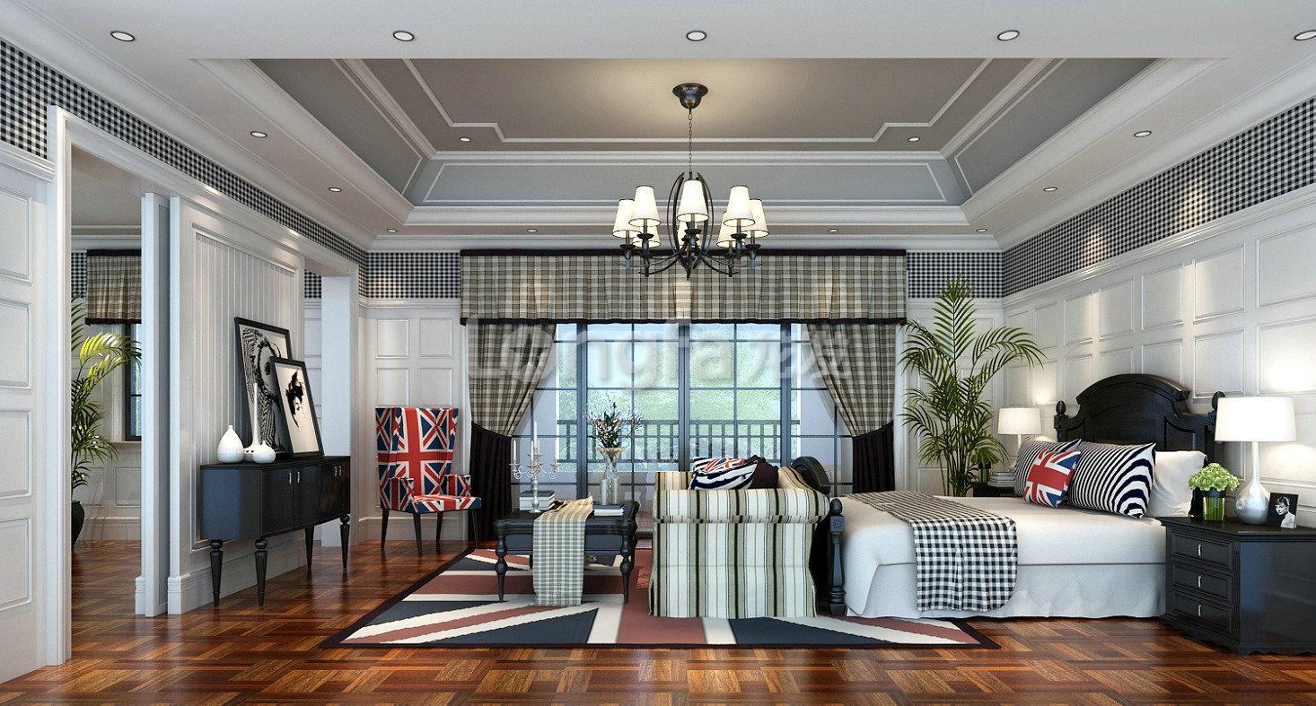 别墅美式风格_客厅设计装修效果图-x团装修网图片