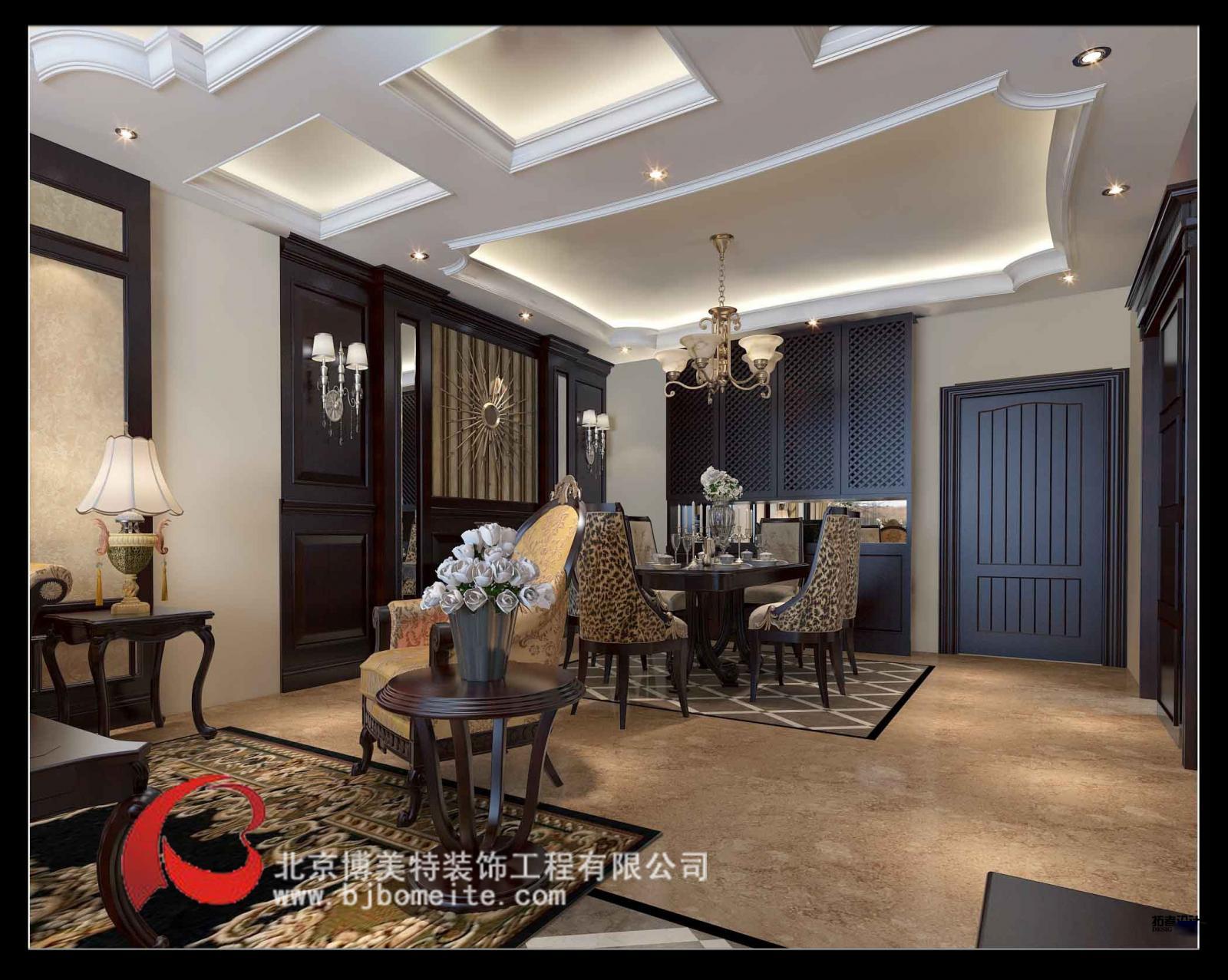 设计理念:欧式风格按不同的地域文化可分为北欧、简欧和传统欧式。其中的田园风格于17世纪盛行欧洲,强调线形流动的变化,色彩华丽。它在形式上以浪漫主义为基础,装修材料常用大理石、多彩的织物、精美的地毯,精致的法国壁挂,整个风格豪华、富丽,充满强烈的动感效果。