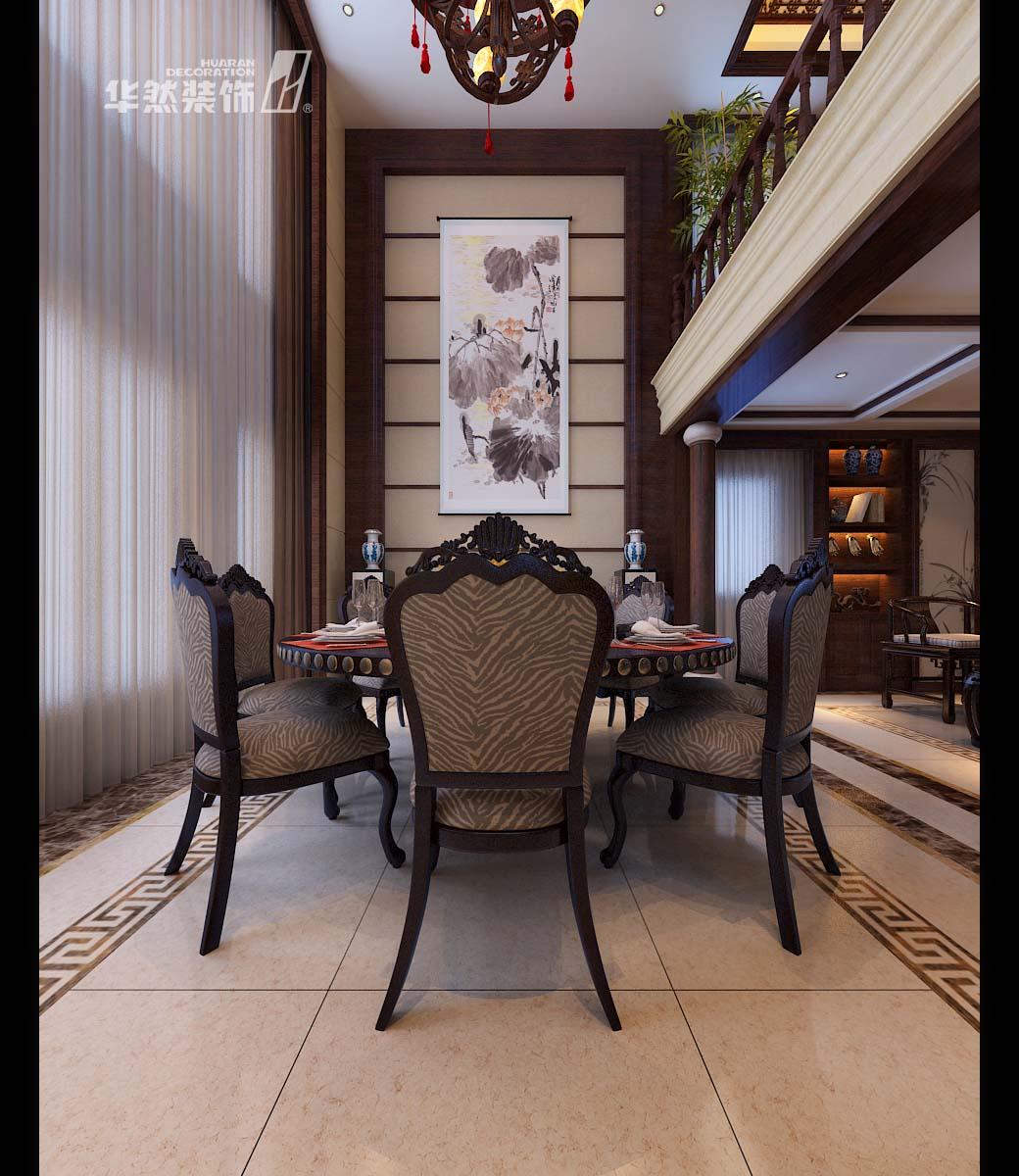 别墅中式风格_华然装饰-内森庄园