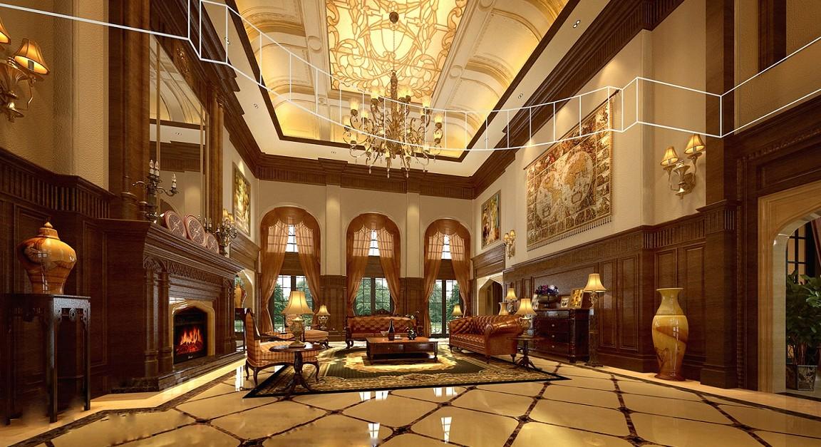 别墅古典风格_上海西郊庄园1080平别墅欧式古典风格图片