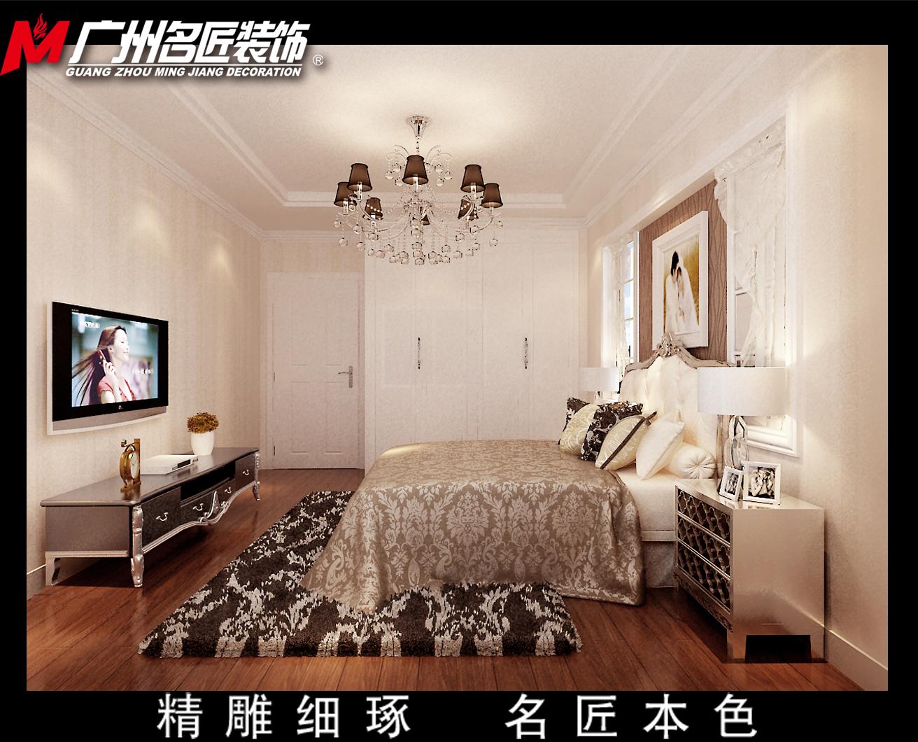 三居室欧式风格_圣地雅歌117平方户型设计装修效果图图片