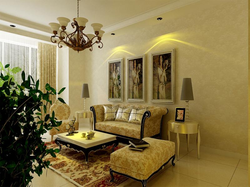 136平米-客厅装修效果图 中式别墅客厅装修效果图  户型:两室两厅