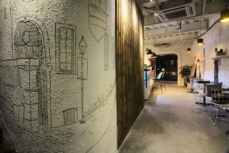 咖啡馆装修效果图-x团装修网