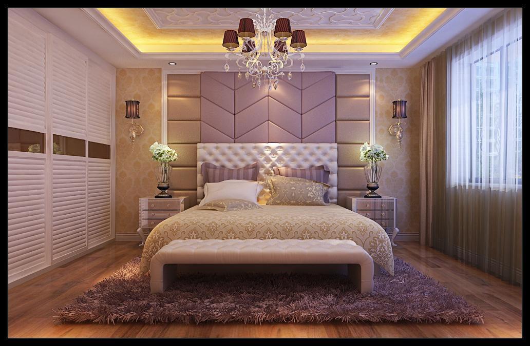 老房欧式风格主卧室_富力华庭图片