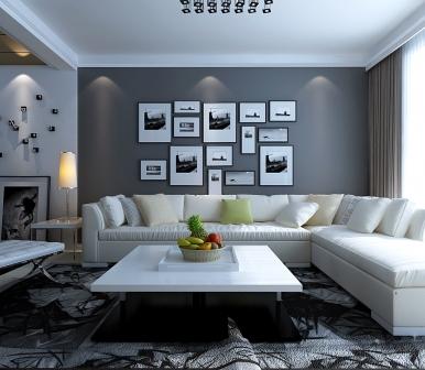 黑 白 灰的代表 东方俪城 126平现代简约风格