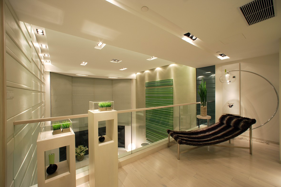 复式楼_叠加式别墅现代简约风格设计——上海龙发装饰
