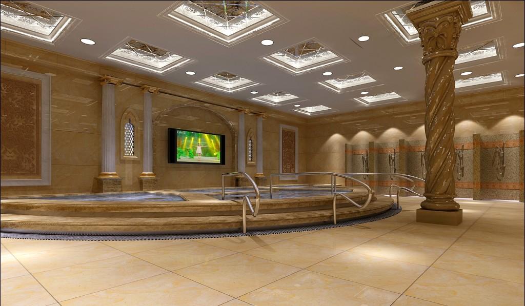 洗浴中心装修效果图