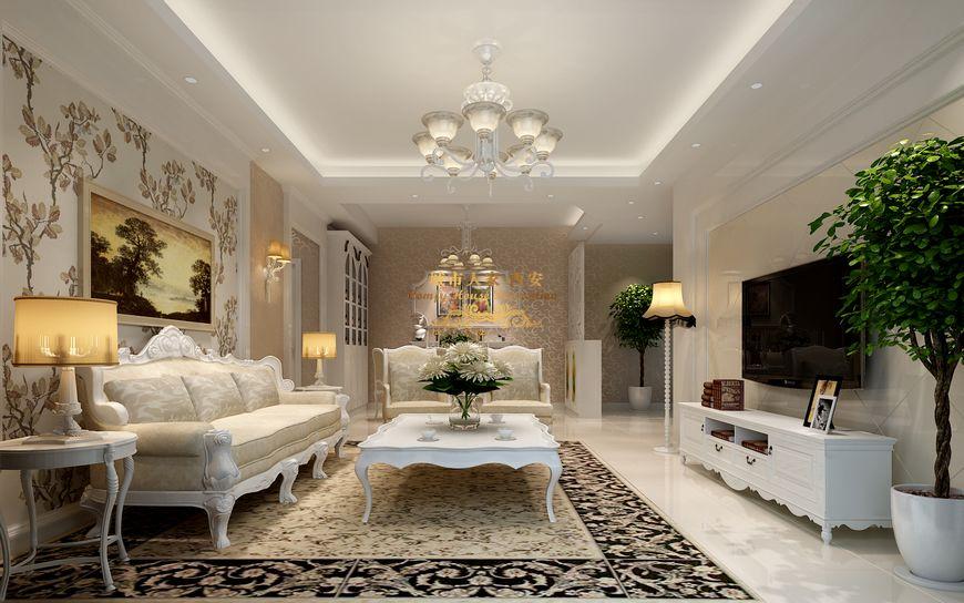 【西安城市人家】紫郡长安102平儒雅简约欧式室内设计图片
