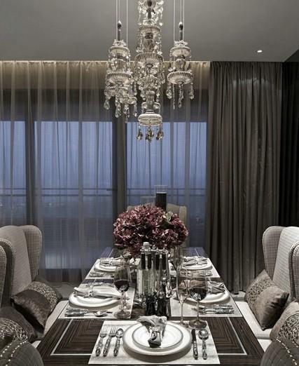 三居室北欧风格餐厅_北欧风格三居豪装装修效果图-x团