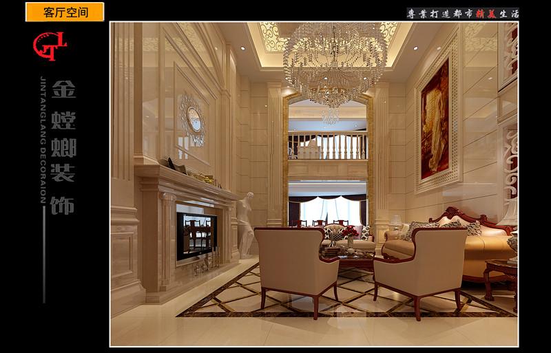 复式楼欧式风格客厅电视背景墙_鑫海湾黄总复式楼图片
