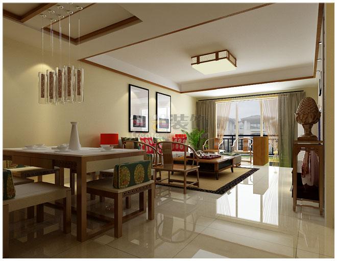 餐厅_恒大苹果园-133㎡-简约中式风格装修效果图-x团图片