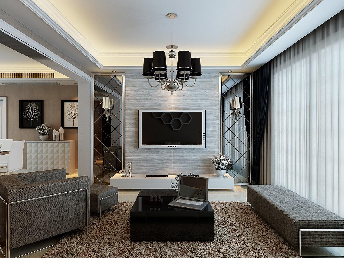 中式别墅客厅装修效果图  户型:三居室 房间:客厅 风格:现代风格 装修